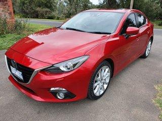 2015 Mazda 3 BM Series SP25 Astina Red Sports Automatic Sedan.