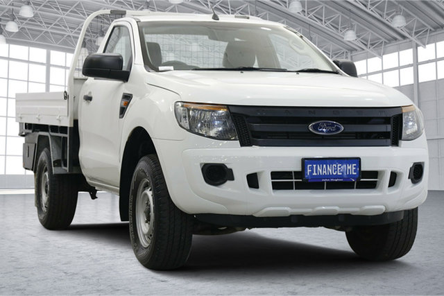 Used Ford Ranger PX XL Hi-Rider Victoria Park, 2014 Ford Ranger PX XL Hi-Rider White 6 Speed Sports Automatic Cab Chassis