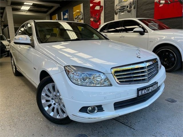 Used Mercedes-Benz C-Class W203 C200 Kompressor Elegance Glebe, 2007 Mercedes-Benz C-Class W203 C200 Kompressor Elegance Calcite White Sports Automatic Sedan