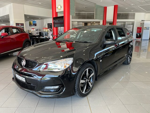 Used Holden Commodore VF II MY16 SV6 Sportwagon Black Artarmon, 2016 Holden Commodore VF II MY16 SV6 Sportwagon Black Black 6 Speed Sports Automatic Wagon