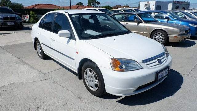 Used Honda Civic 7th Gen MY2002 GLi St James, 2002 Honda Civic 7th Gen MY2002 GLi White 5 Speed Manual Sedan