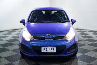 2013 Kia Rio UB MY13 S Blue 6 Speed Manual Hatchback.