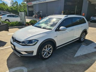 2018 Volkswagen Golf 7.5 MY19 Alltrack DSG 4MOTION 132TSI White 6 Speed Sports Automatic Dual Clutch
