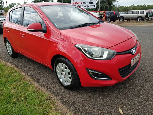 Used Hyundai i20 PB MY13 Active Pinelands, 2012 Hyundai i20 PB MY13 Active Red 4 Speed Automatic Hatchback