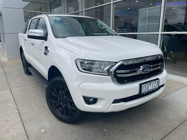 Used Ford Ranger PX MkIII 2020.75MY XLT Hi-Rider Ferntree Gully, 2020 Ford Ranger PX MkIII 2020.75MY XLT Hi-Rider White 10 Speed Sports Automatic Double Cab Pick Up