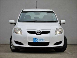 2009 Toyota Corolla ZRE152R Ascent White 6 Speed Manual Sedan.