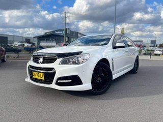 2015 Holden Commodore SV6 White Sports Automatic Wagon.