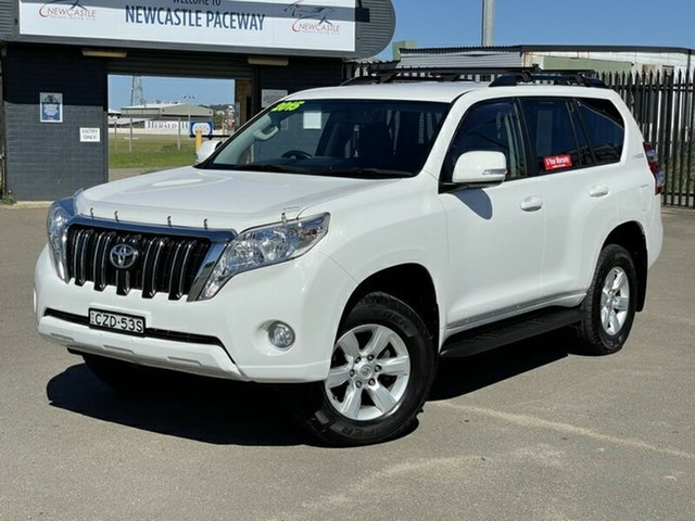 Used Toyota Landcruiser Prado KDJ150R MY14 GXL Newcastle, 2015 Toyota Landcruiser Prado KDJ150R MY14 GXL White 5 Speed Sports Automatic Wagon