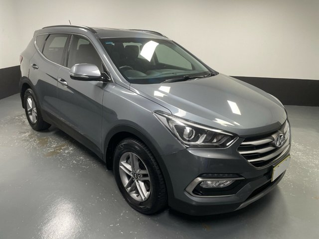 Used Hyundai Santa Fe DM4 MY18 Active Cardiff, 2017 Hyundai Santa Fe DM4 MY18 Active Titanium Silver 6 Speed Sports Automatic Wagon