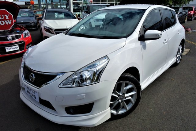 Used Nissan Pulsar C12 SSS Seaford, 2014 Nissan Pulsar C12 SSS White 6 Speed Manual Hatchback