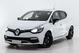 2014 Renault Clio IV B98 R.S. 200 EDC Cup White 6 Speed Sports Automatic Dual Clutch Hatchback.
