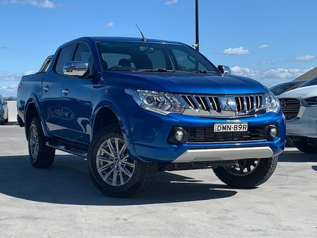 Used Mitsubishi Triton MQ MY16 GLS Double Cab Liverpool, 2016 Mitsubishi Triton MQ MY16 GLS Double Cab Blue 5 Speed Sports Automatic Utility