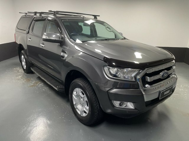 Used Ford Ranger PX MkII XLT Double Cab Rutherford, 2017 Ford Ranger PX MkII XLT Double Cab Grey 6 Speed Sports Automatic Utility