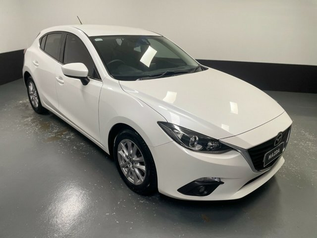 Used Mazda 3 BM5476 Maxx SKYACTIV-MT Hamilton, 2015 Mazda 3 BM5476 Maxx SKYACTIV-MT White 6 Speed Manual Hatchback