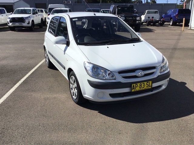 Used Hyundai Getz TB MY06 Cardiff, 2007 Hyundai Getz TB MY06 White 5 Speed Manual Hatchback