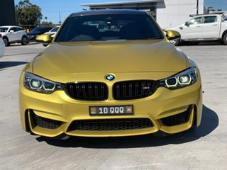 2017 BMW M3 F80 LCI Competition M-DCT Yellow 7 Speed Sports Automatic Dual Clutch Sedan