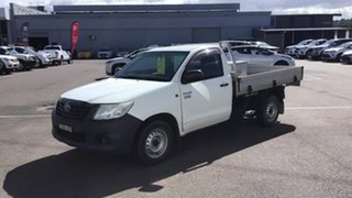 2014 Toyota Hilux TGN16R MY14 Workmate 4x2 White 5 Speed Manual Cab Chassis