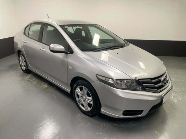 Used Honda City GM MY12 VTi Hamilton, 2012 Honda City GM MY12 VTi Silver 5 Speed Automatic Sedan