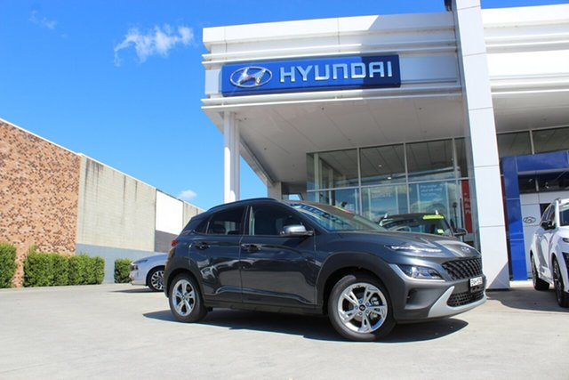 Demo Hyundai Kona Os.v4 MY21 Active 2WD Cardiff, 2021 Hyundai Kona Os.v4 MY21 Active 2WD Dark Knight 8 Speed Constant Variable Wagon