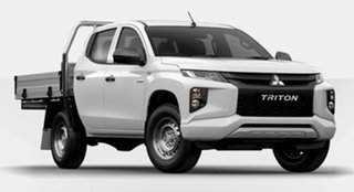 2021 Mitsubishi Triton MR MY21 GLX Double Cab White 6 Speed Manual Cab Chassis