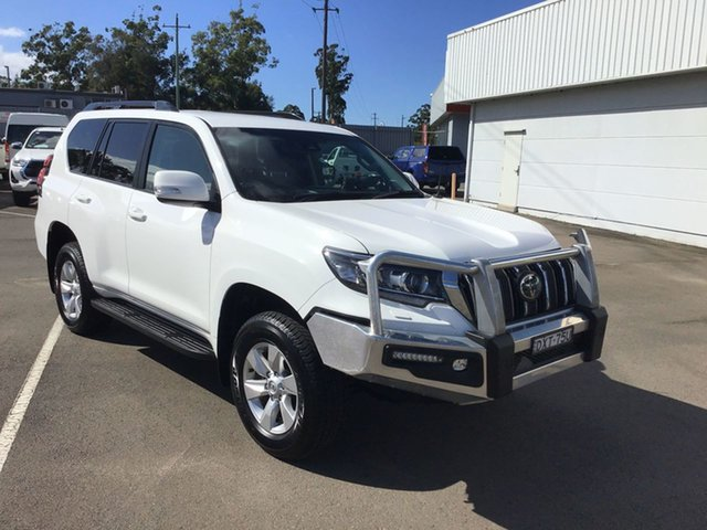 Pre-Owned Toyota Landcruiser Prado GDJ150R GXL Cardiff, 2018 Toyota Landcruiser Prado GDJ150R GXL White 6 Speed Sports Automatic Wagon