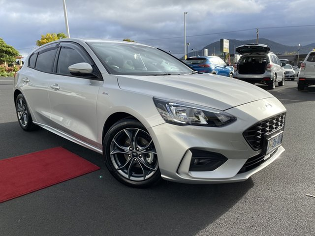 Used Ford Focus SA 2019.75MY ST-Line Glenorchy, 2019 Ford Focus SA 2019.75MY ST-Line Silver 8 Speed Automatic Hatchback