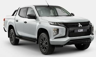 2021 Mitsubishi Triton MR MY21 GSR Double Cab White 6 Speed Sports Automatic Utility