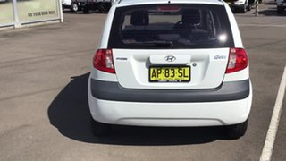 2007 Hyundai Getz TB MY06 White 5 Speed Manual Hatchback