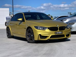 2017 BMW M3 F80 LCI Competition M-DCT Yellow 7 Speed Sports Automatic Dual Clutch Sedan.