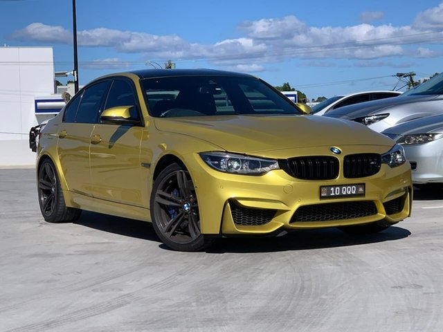 Used BMW M3 F80 LCI Competition M-DCT Liverpool, 2017 BMW M3 F80 LCI Competition M-DCT Yellow 7 Speed Sports Automatic Dual Clutch Sedan