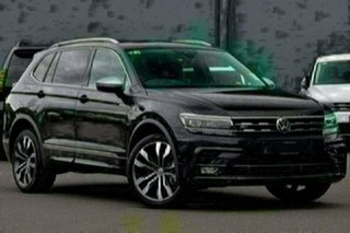 2020 Volkswagen Tiguan 5N MY21 162TSI Highline DSG 4MOTION Allspace Black 7 Speed.