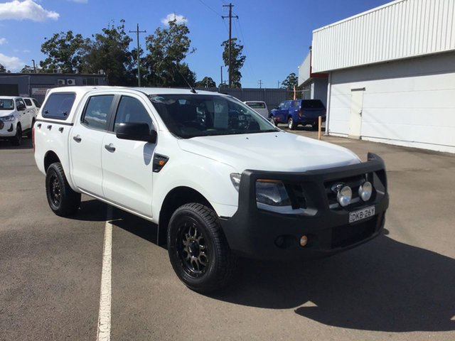 Used Ford Ranger PX XL Cardiff, 2013 Ford Ranger PX XL White 6 Speed Sports Automatic Utility