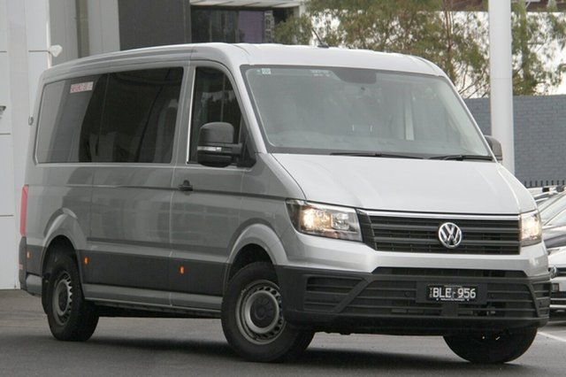 New Volkswagen Crafter SY1 MY20 Minibus MWB FWD TDI410 Port Melbourne, 2019 Volkswagen Crafter SY1 MY20 Minibus MWB FWD TDI410 Silver 8 Speed Automatic Bus