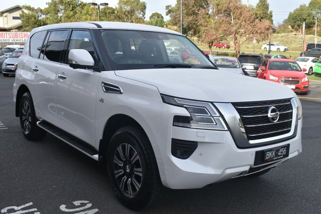 Used Nissan Patrol Y62 Series 5 MY20 TI Wantirna South, 2020 Nissan Patrol Y62 Series 5 MY20 TI White 7 Speed Sports Automatic Wagon