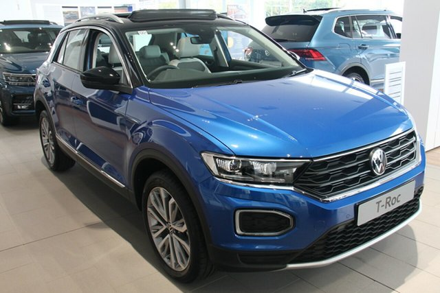 New Volkswagen T-ROC A1 MY21 110TSI Style Port Melbourne, 2021 Volkswagen T-ROC A1 MY21 110TSI Style Blue 8 Speed Sports Automatic Wagon