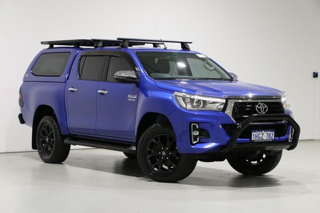 Used Toyota Hilux GUN126R MY19 SR5 (4x4) Bentley, 2019 Toyota Hilux GUN126R MY19 SR5 (4x4) Blue 6 Speed Automatic Double Cab Pick Up