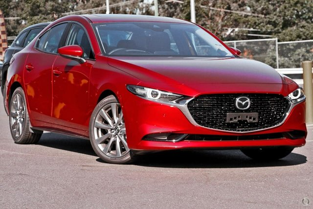 New Mazda 3 BP2SLA G25 SKYACTIV-Drive Astina East Maitland, 2021 Mazda 3 BP2SLA G25 SKYACTIV-Drive Astina Red 6 Speed Sports Automatic Sedan