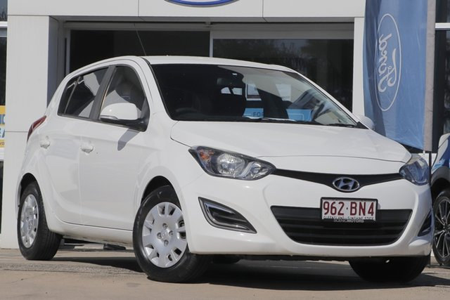 Used Hyundai i20 PB MY14 Active Beaudesert, 2013 Hyundai i20 PB MY14 Active White 6 Speed Manual Hatchback