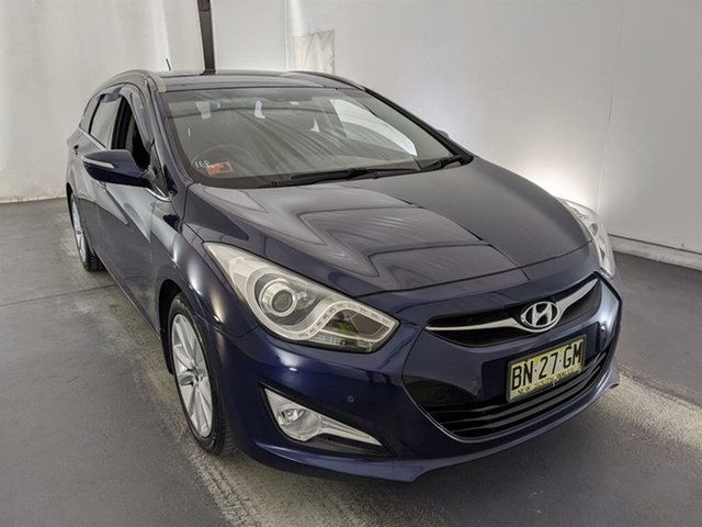 Used Hyundai i40 VF Elite Tourer Maryville, 2011 Hyundai i40 VF Elite Tourer Blue 6 Speed Sports Automatic Wagon