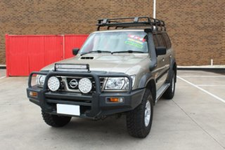 2004 Nissan Patrol GU III ST (4x4) Gold 5 Speed Manual Wagon.