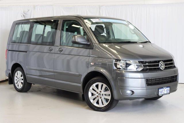 Used Volkswagen Multivan T5 MY15 TDI400 DSG Comfortline Wangara, 2015 Volkswagen Multivan T5 MY15 TDI400 DSG Comfortline Grey 7 Speed Sports Automatic Dual Clutch