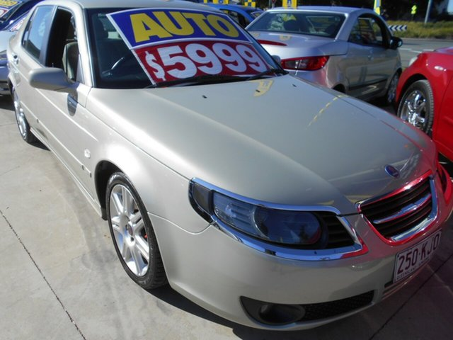 Used Saab 9-5 MY2006 Vector Springwood, 2006 Saab 9-5 MY2006 Vector Silver 5 Speed Sports Automatic Sedan