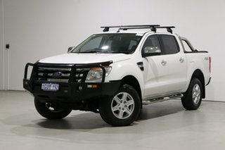 2014 Ford Ranger PX XLT 3.2 (4x4) White 6 Speed Automatic Double Cab Pick Up.