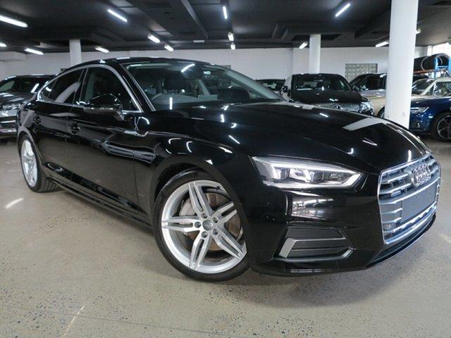 Used Audi A5 F5 MY18 Sport Sportback S Tronic Quattro Albion, 2017 Audi A5 F5 MY18 Sport Sportback S Tronic Quattro Black 7 Speed Sports Automatic Dual Clutch