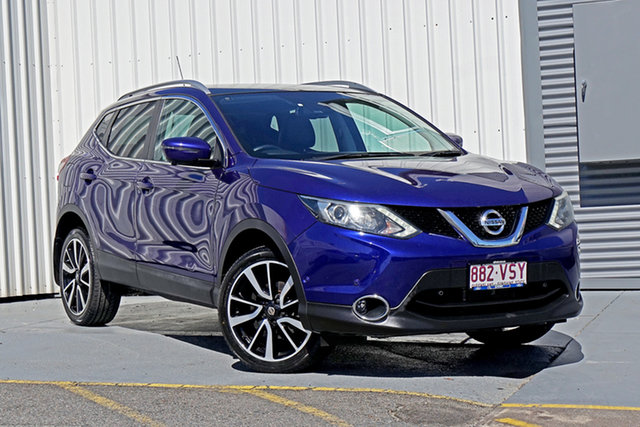 Used Nissan Qashqai J11 TI Springwood, 2014 Nissan Qashqai J11 TI Blue 1 Speed Constant Variable Wagon