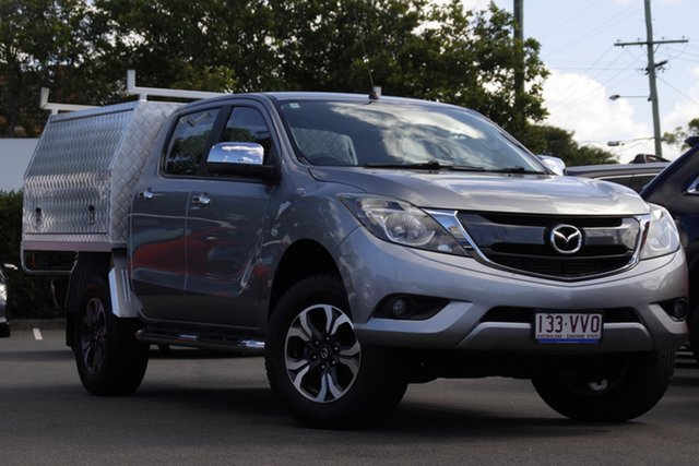 Used Mazda BT-50 UP0YF1 XTR Mount Gravatt, 2015 Mazda BT-50 UP0YF1 XTR Silver 6 Speed Sports Automatic Utility