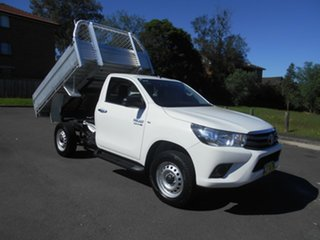 2016 Toyota Hilux GUN126R SR (4x4) White 6 Speed Automatic Cab Chassis.