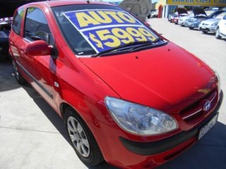 2006 Hyundai Getz TB MY06 Red 4 Speed Automatic Hatchback.