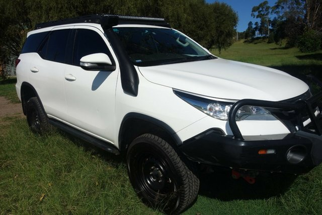 Used Toyota Fortuner GUN156R GX East Maitland, 2016 Toyota Fortuner GUN156R GX White 6 Speed Manual Wagon