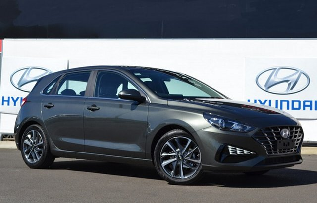 New Hyundai i30 PD.V4 MY21 Elite Warwick, 2021 Hyundai i30 PD.V4 MY21 Elite Amazon Gray 6 Speed Automatic Hatchback